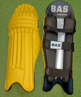 BAS Player Edi Yellow Cricket Batting Pads Men's