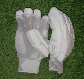 SG Hilite All White Cricket Batting Gloves Men's