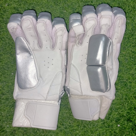 Ultimate Silver Light Weight Unbranded Cricket Batting Gloves