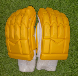 Ultimate Yellow Light Weight Unbranded Cricket Batting Gloves
