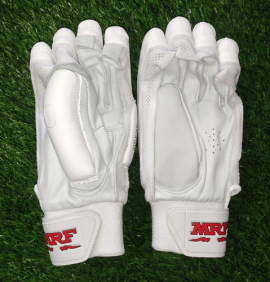 MRF Genius Grand Edition White Cricket Batting Gloves Men's