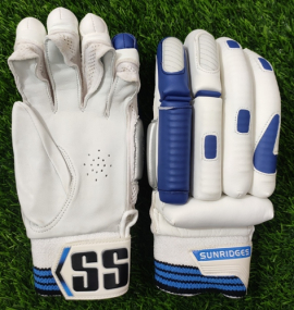 SS Dhoni-7 Blue Cricket Batting Gloves Men's