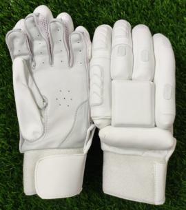 Unbranded All White Cricket Batting Gloves Men's