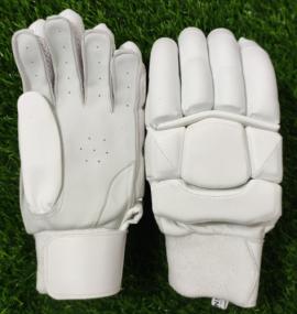 Unbranded All White Pro Cricket Batting Gloves Men's