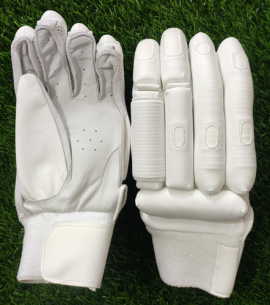 Unbranded All White Players Cricket Batting Gloves Men's