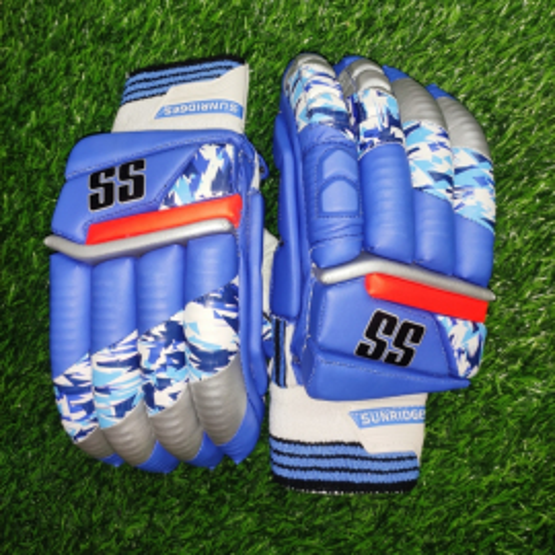 SS T-20 Players Indian Blue Color Cricket Batting Gloves Men's