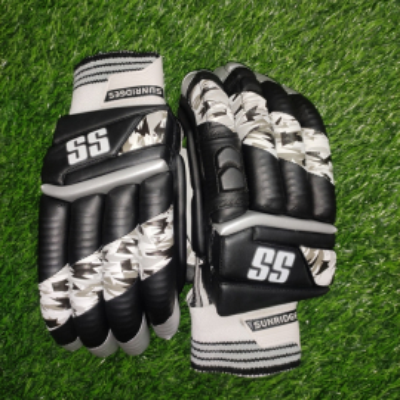 SS T-20 Players Black Color Cricket Batting Gloves Men's