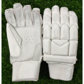 Ultimate All White Light Weight Unbranded Cricket Batting Gloves Men's